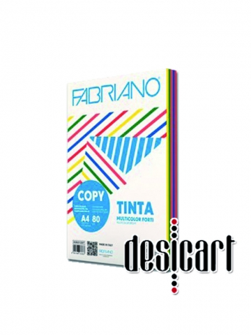 Carta Fabriano Copy Tinta TN A4 gr. 80 Multicolor