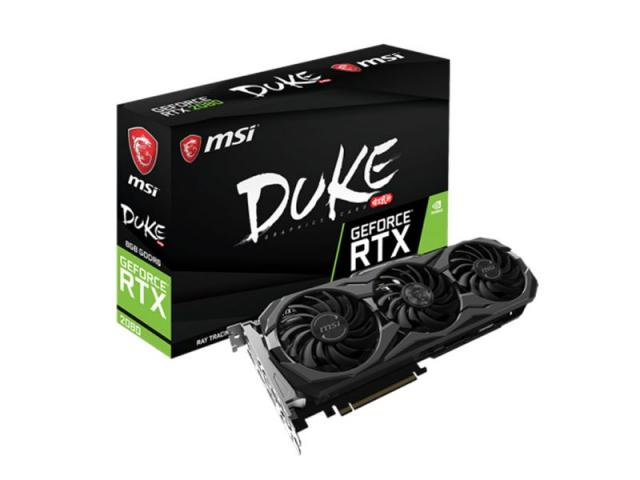 VGA MSI NVIDIA RTX 2080 DUKE 8G OC 8GB DDR6 1HDMI 3DP 1USB C