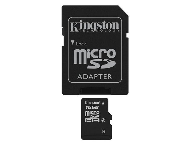 SD MICRO 16GB CL4 SDHC CON ADATT. 4MB/S LET.4MB/S SCRIT.KINGSTON